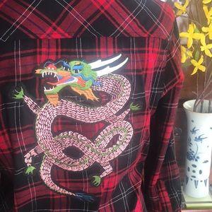 || Zara || Dragon Plaid Flannel